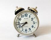 Tiny Vintage Russian SLAVA Twin Bell Alarm clock/Made in CCCP/Alarm clock Retro alarm clock /Antique/1970s/Mid century / Interesting