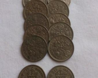 lot of twelve sixpences
