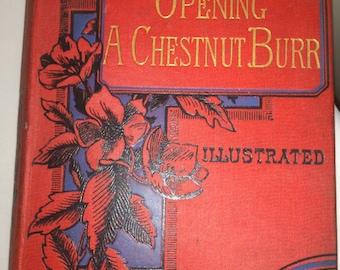 Antiquarian book 1894-opening a chestnut Burr