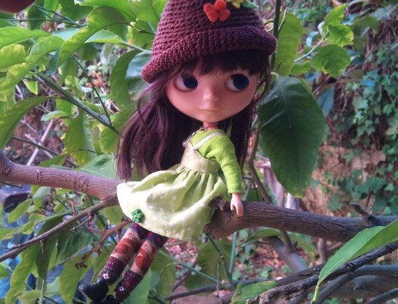 RESERVED for Chrishanthi- 5 piece Little Woodland Girl outfit for Blythe