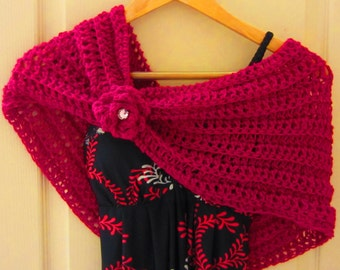 Crochet Pattern Cowl Cape Poncho Scarf Sale