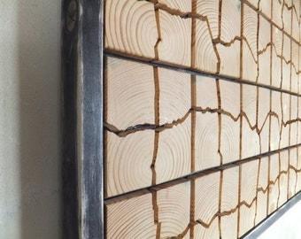 "Unique Wooden Wall Art - 53"" x 32"" x 1.5"" - Home Decoration - Wooden Art - Pieces Art - Unique Decoration"