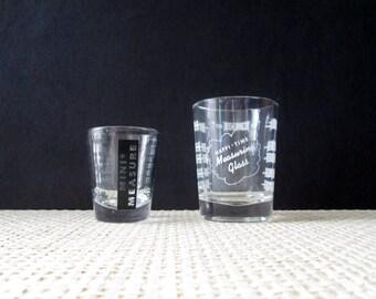 Vintage Libbey Shot Glasses Barware or Measuring Glasses