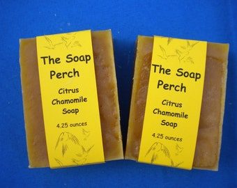 Citrus Chamomile Organic Handcrafted Soap Homemade