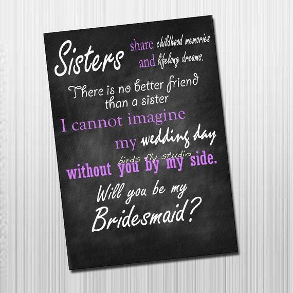 Items Similar To Diy Printable Will You Be My Bridesmaid