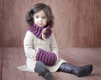 Free Crochet Pattern For Hand Muff : SCARF CROCHET PATTERN Girl Toddler Cowl and Muff The ...