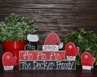 Holiday Decor Christmas Stacker-Personalized Christmas Gift-Family Gift-Housewarming Gift-Christmas Decor-Holiday Decor-Santa
