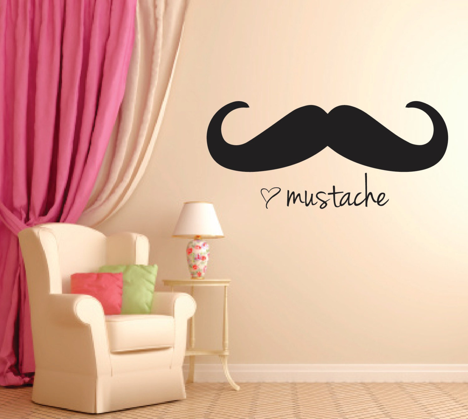Wall Art Stickers Gumtree : Mustache home decor sale print of by