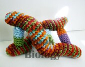 Vibrant DNA Double Helix