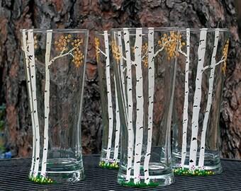 Beer glass, Beer glasses, Beverage glasses, Handmade glass, Tall beer glass, Drinking glass, Drinking glasses, Bar glasses, Beer glassware