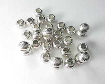 25  pcs ( 5mm x 7mm )  Tibetan  Beads   Make Your Own Jewelry(C1207  )