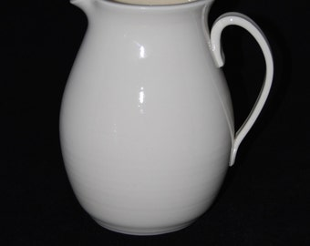 White porcelain pitcher by Charlotte DuPre