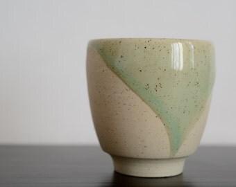 Handmade Small Ceramic Teacup. Simple Blue-Green Glazed. Robin's Egg