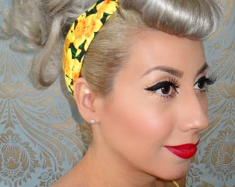 Daffodil Rockabilly Bandana- 1950s vintage inspired - PinUp