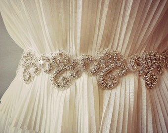 BRIDAL SASH , Wedding Sash ,wedding RHINESTONE sash , bridal rhinestone sash Bridal crystal belt, bridal belt ,jeweled sash belt