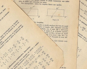 10  Maths book sheets from Spain - 1960s