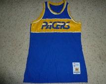 Vtg Indiana Pacers Sand Knit MacGregor NBA Jersey Sz Men's M