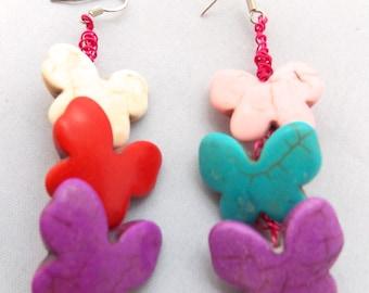 Butterfly Wire Knitted Earrings