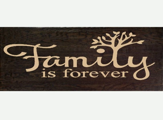 items similar to family is forever wood sign on etsy. Black Bedroom Furniture Sets. Home Design Ideas