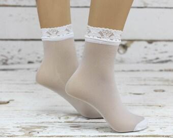 Transparent  Ankle Socks Ruffle The Knee Socks ,Ruffle Socks,socks,boot socks