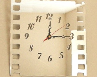 Film Strip Mirror Clock - 2 Sizes