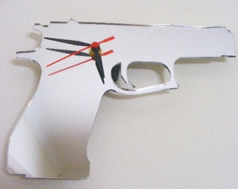 Gun Clock Mirror