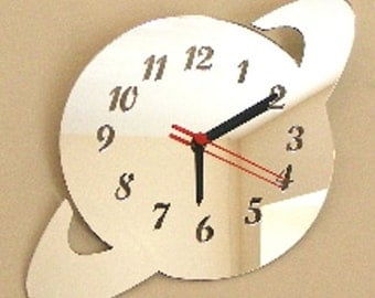 Saturn Clock Mirror - 2 Sizes Available