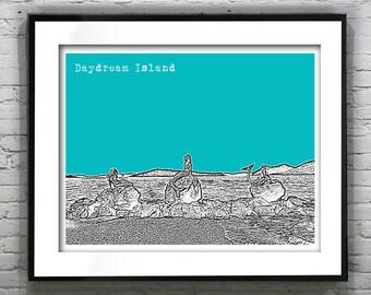 Daydream Island Queensland Australia Poster Art Skyline Print