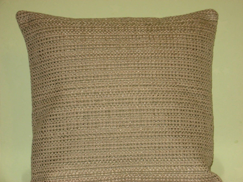 Beige grey green light brown handmade throw pillow