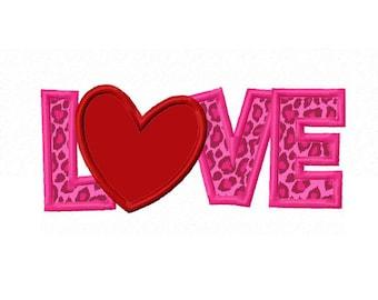 LOVE Applique Machine Embroidery Design NO:0118