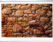 Old Hebridean Wall - Mixed Media Photo Greetings Card