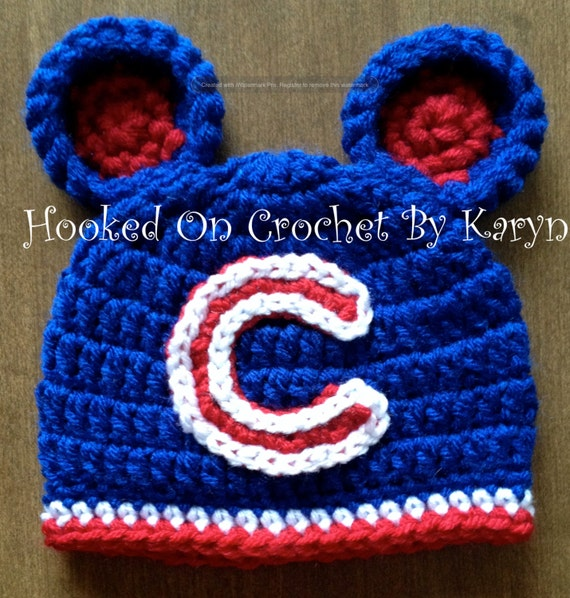 Chicago Cubs Crochet Hat