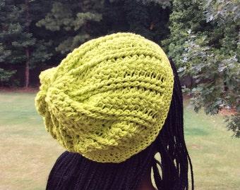Custom Beautiful Things Slouch Hat (Cotton/Crochet)