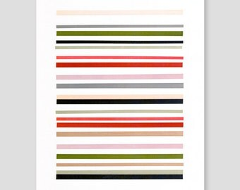 Letterpress Stripes Print (Version C)
