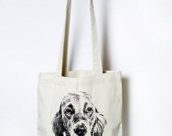 WALDO • tote bag • screenprint • handmade • 100% unbleached sturdy cotton • shopper • illustration • dog • stories