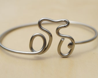 Silver Bike Bicycle Spoke Bracelet