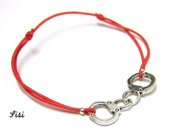 Bracelet red handcuff