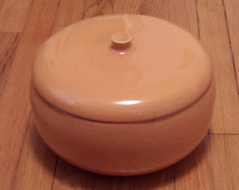 Rare Russel Wright Iroquois Casual CANTALOUPE 6-Quart Dutch Oven!