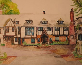 Custom House Painting - watercolor illustration 8 x 10
