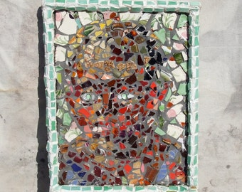 "MOSAIC WALL ART From My 2012 Series ""Faces from Antiquity"""