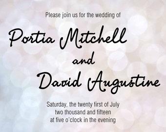 Portia Wedding Invitation