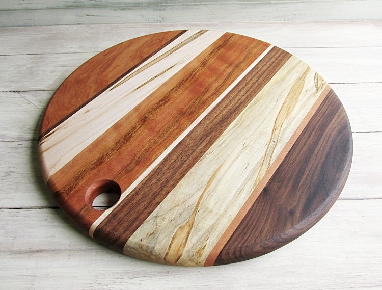 wood cutting board round walnut cherry and ambrosia maple. Black Bedroom Furniture Sets. Home Design Ideas