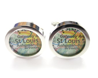 Mapa de St. Louis Missouri gemelos