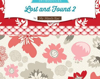 Lost and Found 2 10 inch Layer Cake FREE SHIPPING My Minds Eye for Riley Blake
