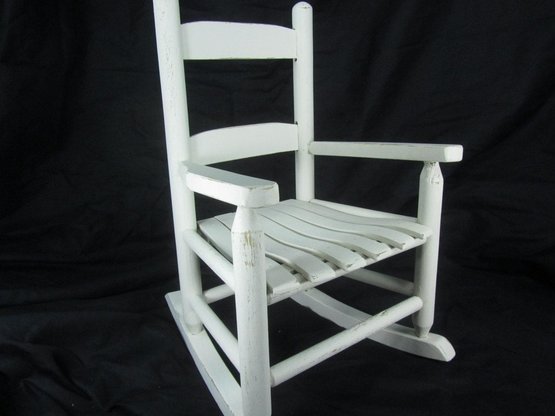 SHABBY CHIC CHILDS Rocking Chair, Wood Rocking Chair, Children's ...