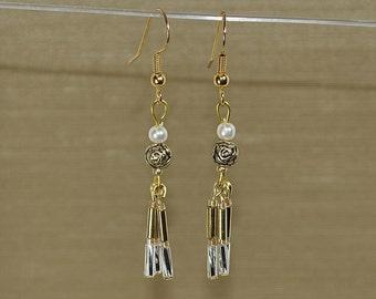 Golden Roses earrings