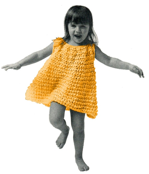 Crochet Patterns Little Girl Dresses : CUTE CROCHET DRESS Pattern for Little Girls - 2, 4, 6 Years (Dress ...