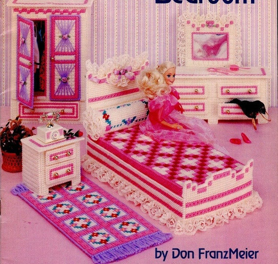 Plastic Canvas Fashion Doll Bedroom Pattern Book By Kenyonbooks