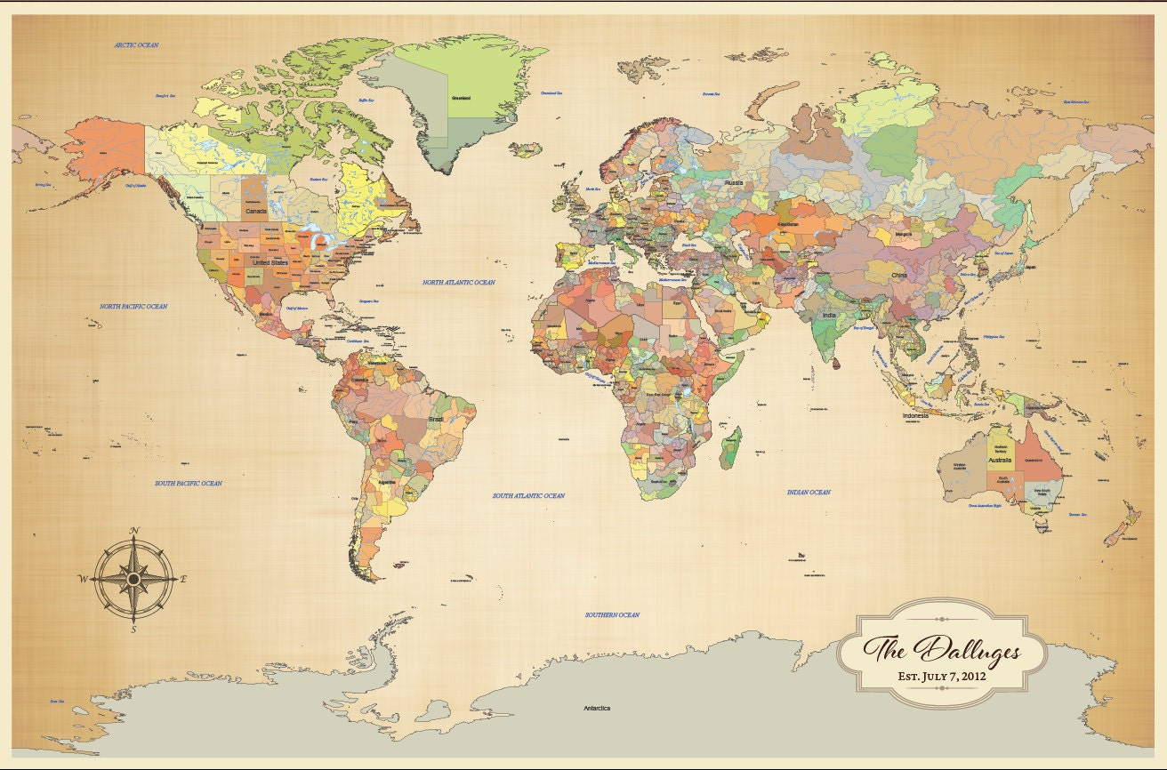Map Of Travels – World Map For Travel