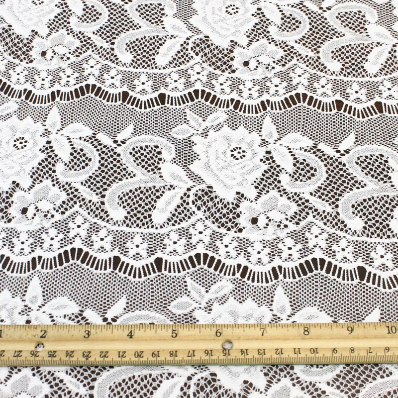 Off white high filament lace fabric by the yard or wholesale for Cheap fabric by the yard
